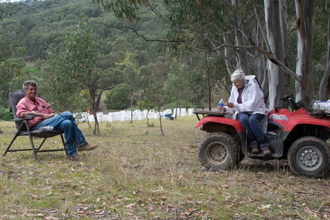 Ted and Pam Lowick at Baringa Vale, Ogunbil.