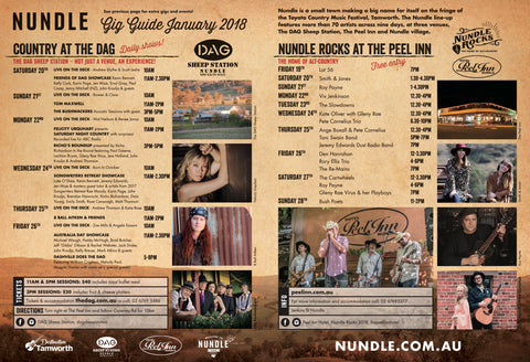 Nundle Tamworth Country Music Festival Program