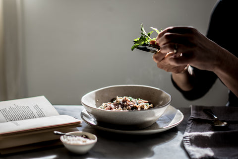 Sarah Glover's Creamy Buckwheat, Nettle and Ham Hock