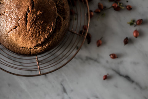 Spiced Rosehip and Olive Oil Cake