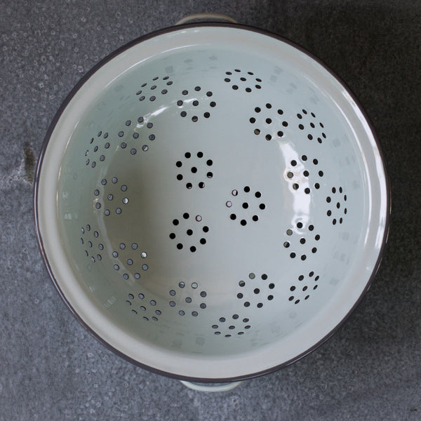 From Midnight To Duck Egg See: Falcon Enamel Colander, Duck Egg