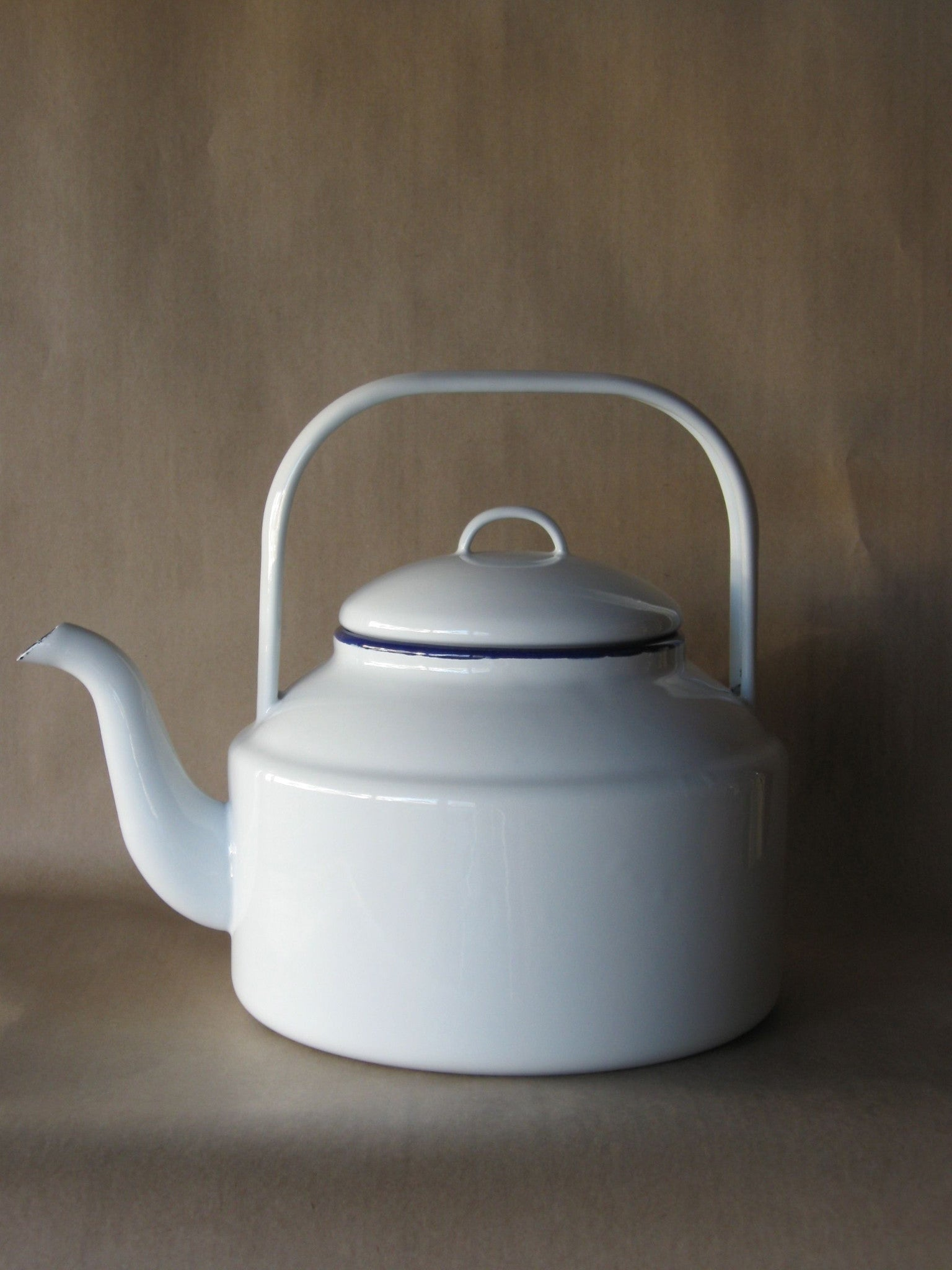 falcon enamel tea kettle  litres  odgers and mcclelland  - falcon enamel tea kettle  litres