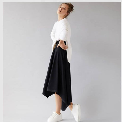 ASYMETRICAL MAXI SKIRT BY DREF BY D