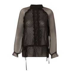 Long sleeve sheer Top in Black from Costa