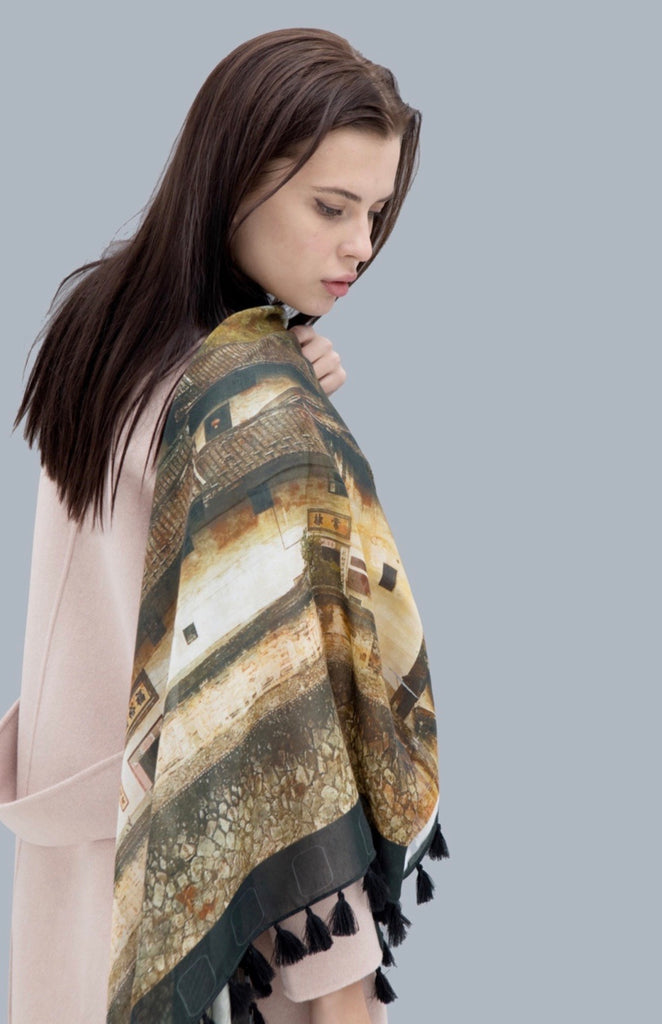 Saffrine Art Wraps in Modal and Silk