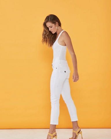 New London Chelsea Jean in White full length