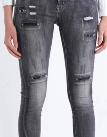 Jeans Pescara from Amici Black distressed