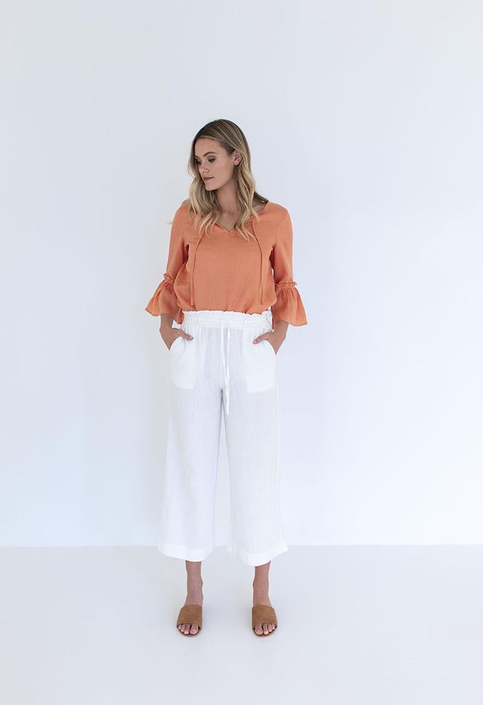 Caribbean Pant in Ivory from Humidity