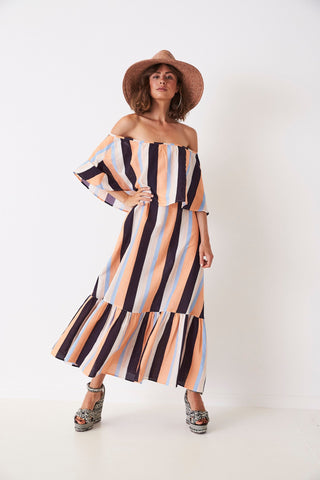 RETRO STRIPES MULTIWAY MAXI DRESS from Frankie and Dash