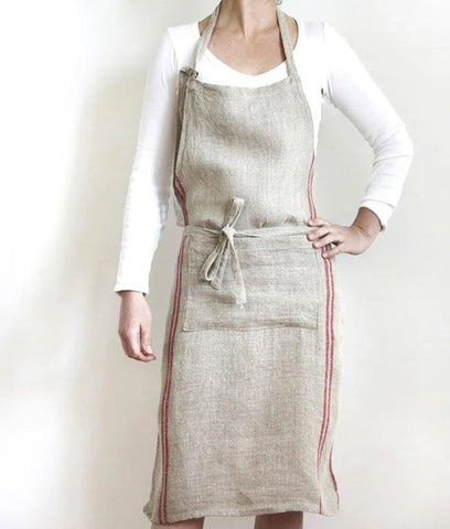 Linen Striped Apron