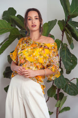 Carrie Top in Rosa or Yellow Silk from Kamare