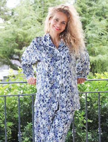 Cosette Pajamas in Navy or Pink