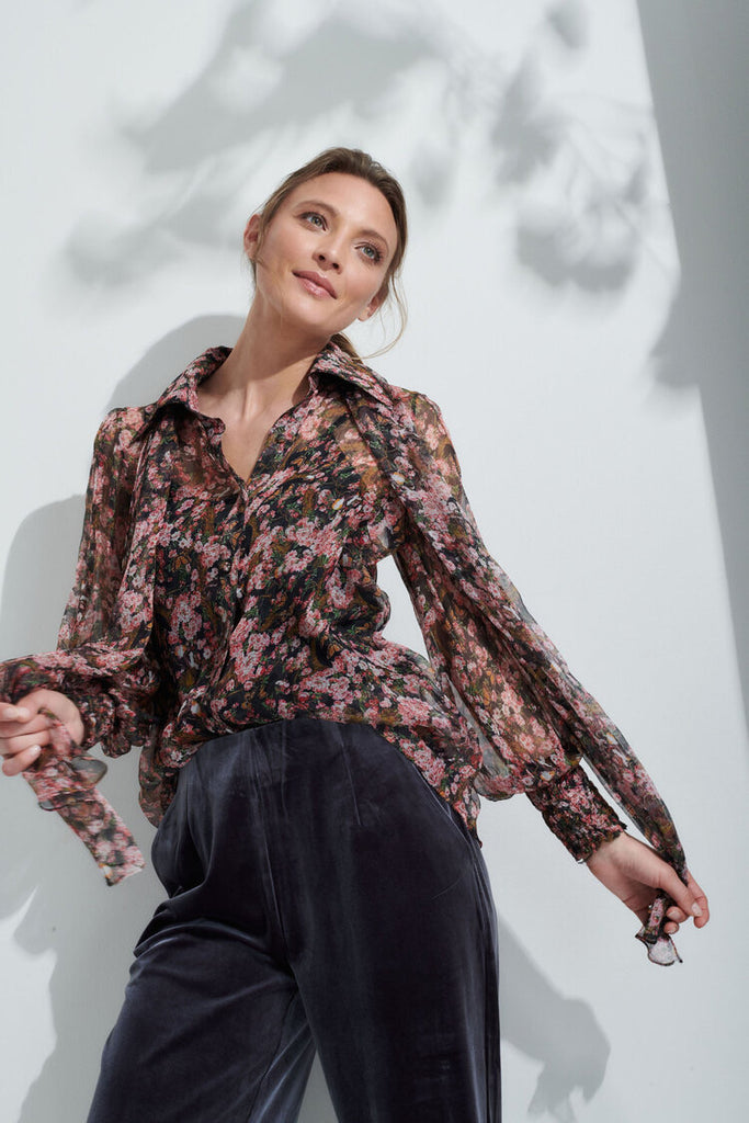 Mills Blouse in Blossom 100% silk