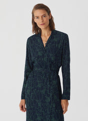Object Asymmetrical Dress in Navy