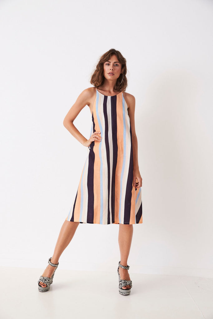 RETRO STRIPES A-LINE SINGLET DRESS from Frankie and Dash