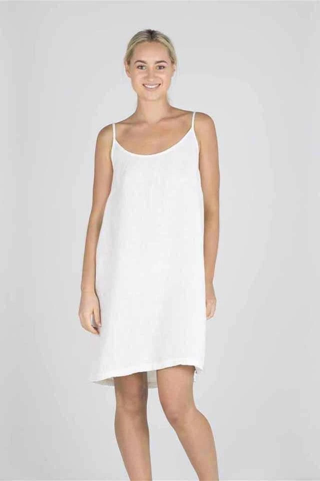 Eadie Linen Slip Dress