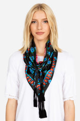 O'Neil silk floral Scarf from Johnny Was