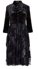 Black lace and Velvet Evening or Cocktail dress from Alembika