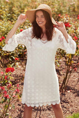 Seeker Lace Dress with sleeve and Slip from Verge