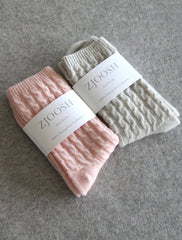 Cashmere Socks in Pink or Grey