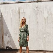 Long sleeved dress in Japanese Wave print from Coster Copenhagen