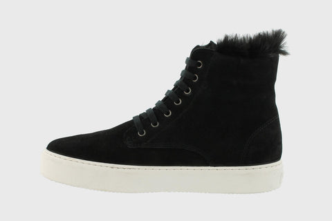 Suede Boots with fur lining in Black from Victoria