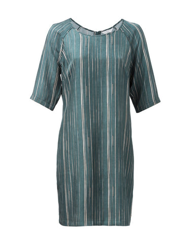 GREEN STRIPED DRESS from Yaya