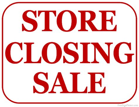 Carrara Store closing down
