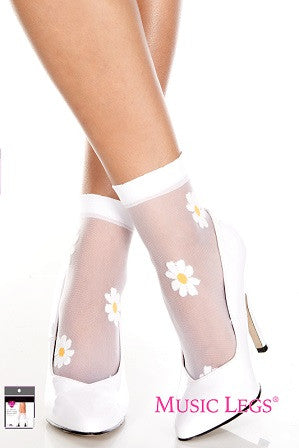 Flower Design Sheer Anklet   ML544