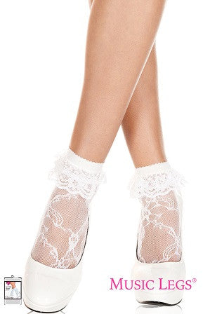 Ruffled Lace Anklet   ML572