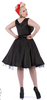 Black Satin 50's Prom Dress  30% OFF SALE