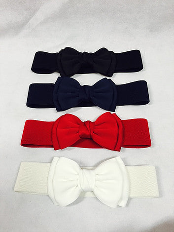 Fabric Bow Stretch Belt