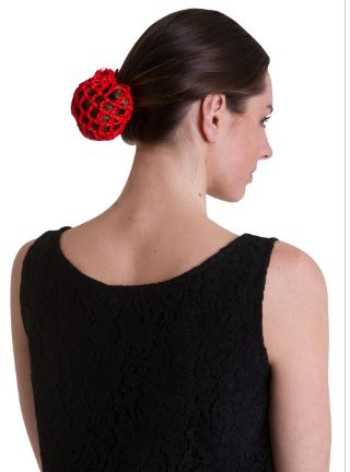 Betty Hair Snood (Net) - Red or Black