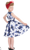 Girls Blue Rosaceae Swing Dress