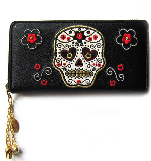 Candy Skull Wallet - Wicked Rockabilly & Gifts