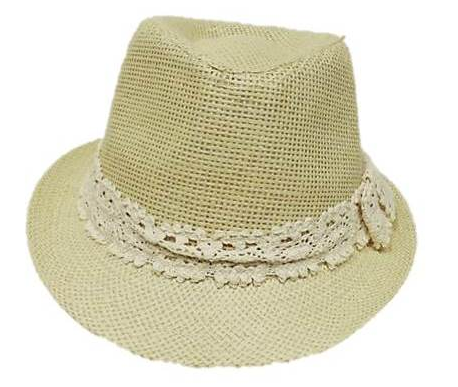 Girls Fedora Cream - Wicked Rockabilly & Gifts