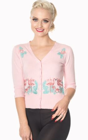 Face to Face Pink Flamingo Cardigan