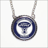 Ford Genuine Hub Cap Necklace - Wicked Rockabilly & Gifts