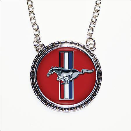 Ford Mustang Hub Cap Necklace - Wicked Rockabilly & Gifts - 1