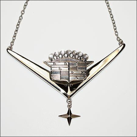 GM Trade Cadillac Star Detroit Chrome Necklace - Wicked Rockabilly & Gifts - 1