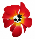 Rose Skull Hair Pin  -Various Colours