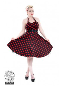Black Big Dot Red Dress - Wicked Rockabilly & Gifts - 1