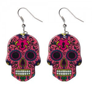 Sugar Skulls Earrings - two colour options