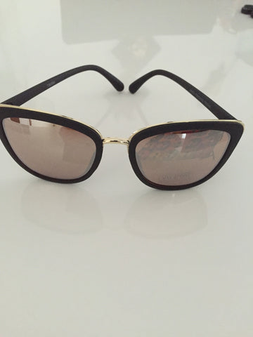 5869RR Gold/Rose  Retro Fashion Sunglasses