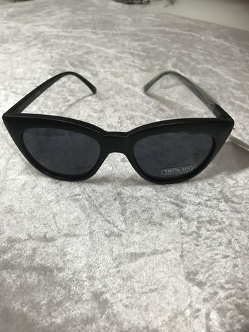 7362BM Unity Retro Matt Black and Rose coloured lenses Sunglasses