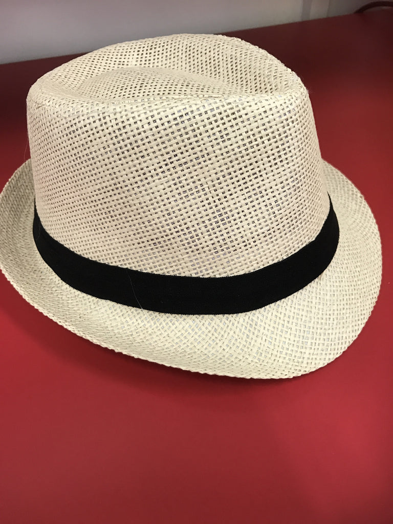 Boys/ Girls Fedora Beige - Black Band