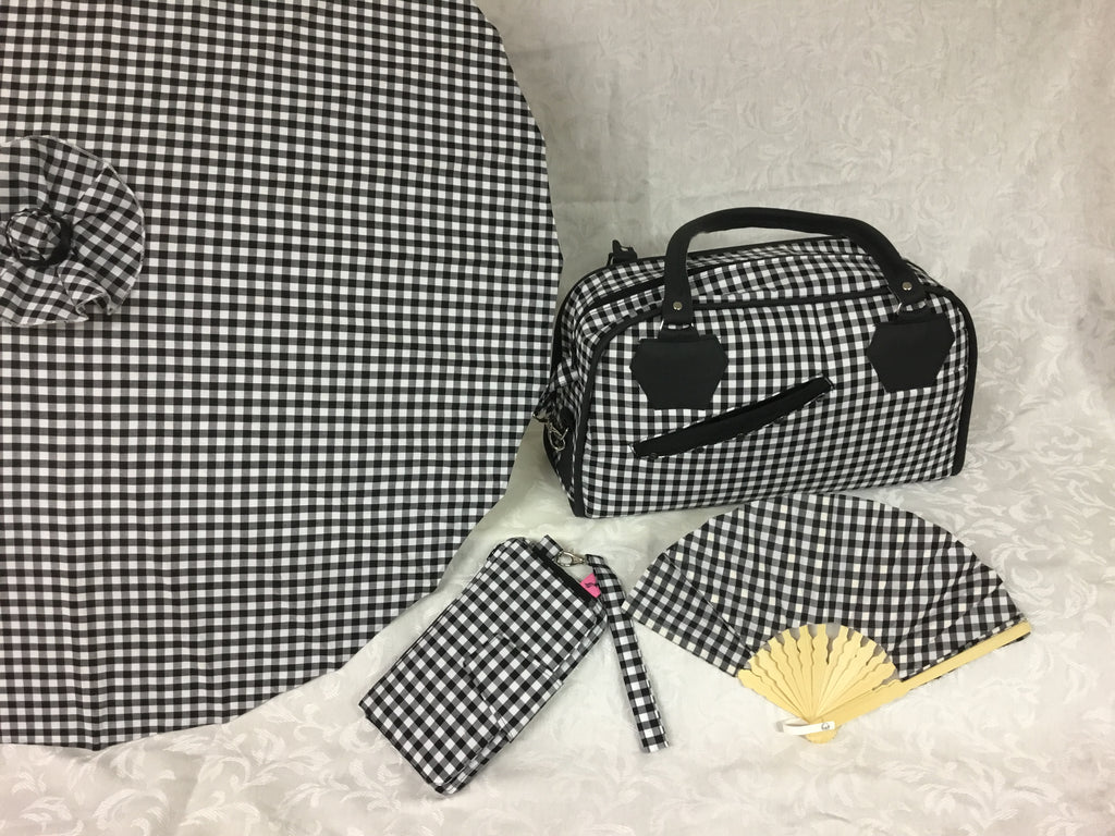 Black/White Gingham Parasol
