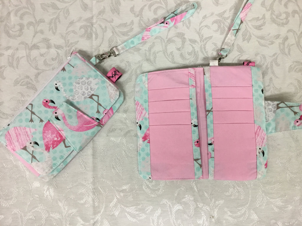 Flamingo Wallet Wristlet