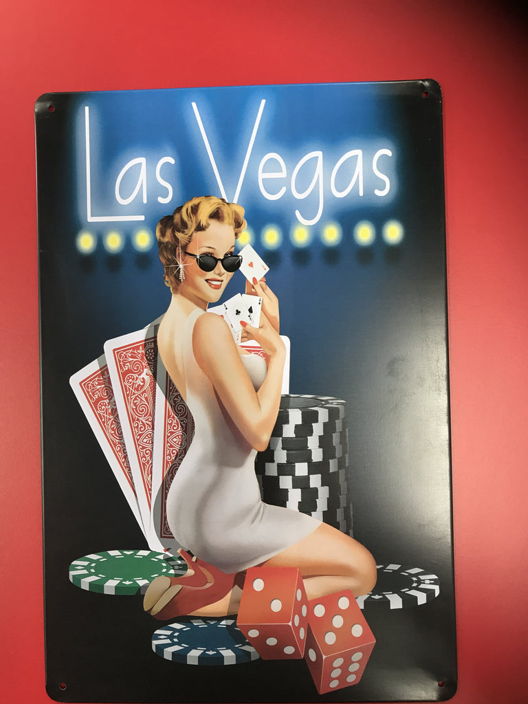 Monroe Las Vegas Tin Sign