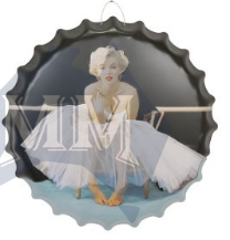 Marilyn  3D Bottle Cap Plaque - Wicked Rockabilly & Gifts - 1